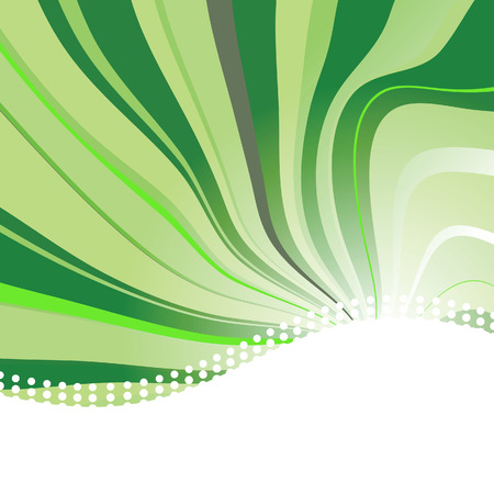 Abstract background with waves in green colour. Vector illustration Vector