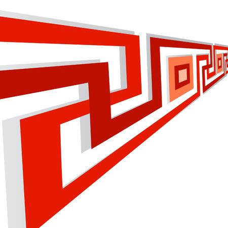 quadratic: Geometrici banner con spirali. Vector illustration
