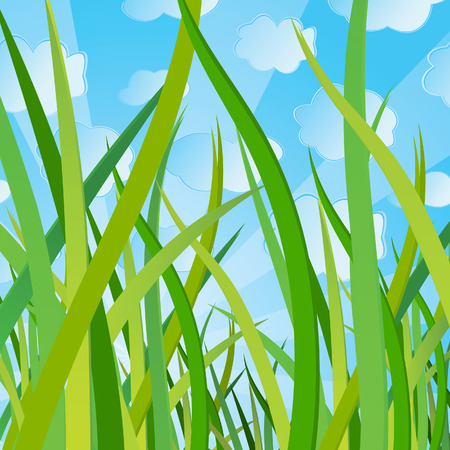 Ecological background with a grass. Vector illustration Stock Vector - 5145411