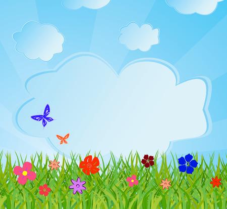 Ecological background. Vector illustration Stock Vector - 5151876