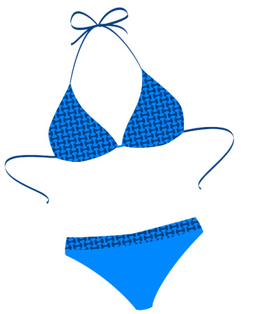 The isolated bathing suit on a white background. Vector illustration Vector