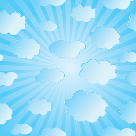 Seamless vector illustration of clouds Stock Vector - 5216808