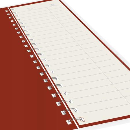 Pure notebook. Vector illustration Vector