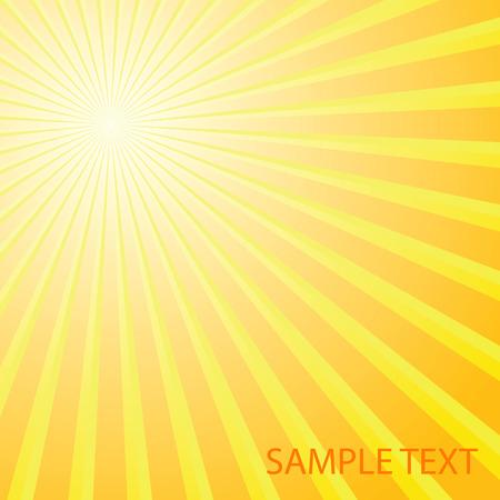 siebziger jahre: Abstrakte solar Hintergrund. Vektor-Abbildung Illustration