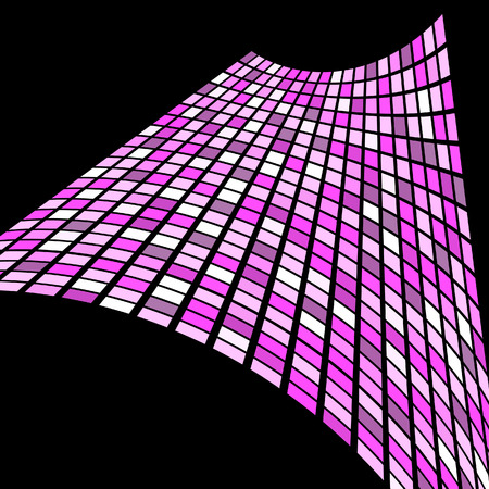 manic: Stylish square banner in pink color. Vector illustration