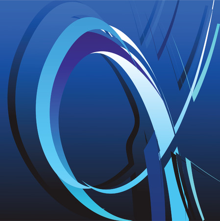 Abstract background with bent lines. Vector illustration Vector