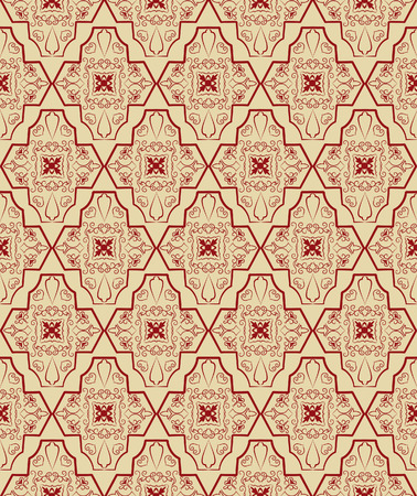 Red and brown seamless pattern. Vector illustration Vector