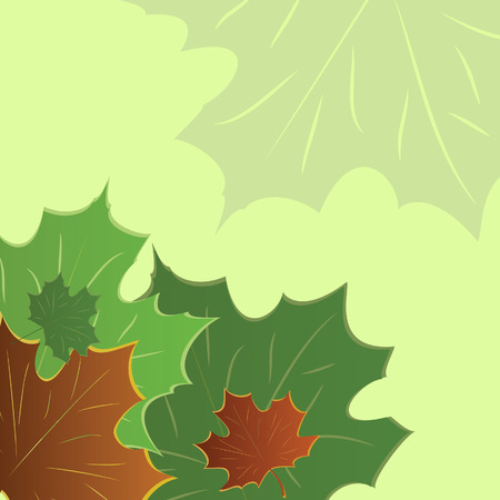 Autumn banner with maple leaves. Vector illustration Stock Vector - 5397133