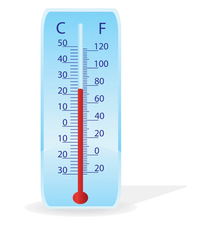 threshold: Vector illustration of a thermometer on a white background