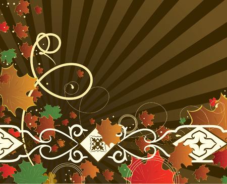 Autumn banner with maple leaves. Vector illustration Stock Vector - 5397145