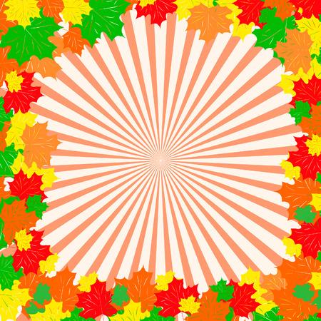 Framework from maple leaves. Vector illustration Stock Vector - 5450096