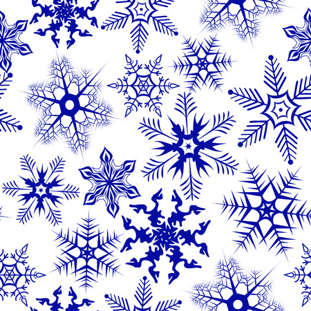 manic: Background with snowflakes. Vector illustration