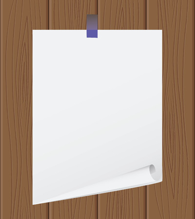 The torn off sheet of paper on wooden structure Stock Vector - 5532788