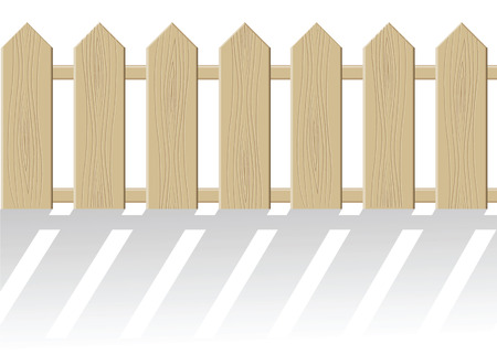 The fence isolated on a white background. Vector illustration Stock Vector - 5680014