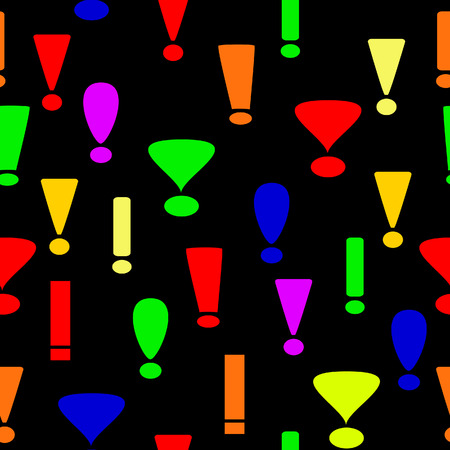 Seamless background from exclamation marks Stock Vector - 5680008