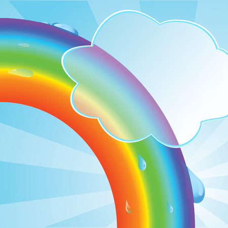 Ecological background with a rainbow. illustration