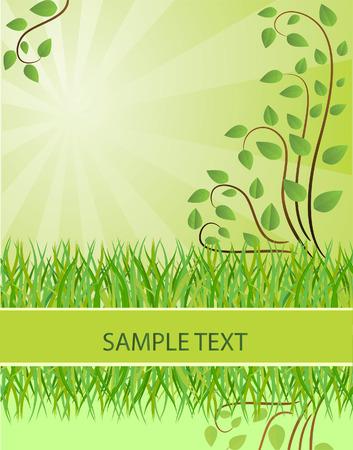 Ecological background. Vector illustration Stock Vector - 6081407