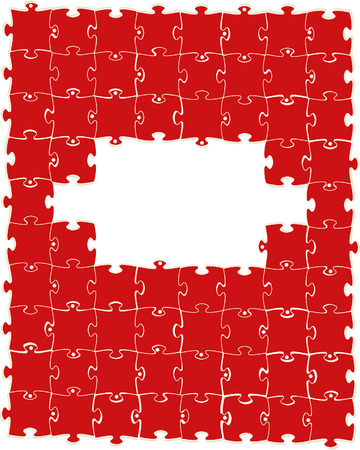 Multi-coloured puzzles on a white background. Vector illustration Stock Vector - 6081405