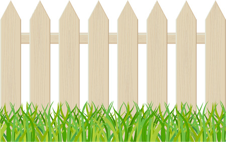 picket fence: The fence isolated on a white background. illustration Illustration