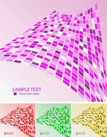Collection of samples abstract geometrical backgrounds. Vector illustration Stock Vector - 6184002
