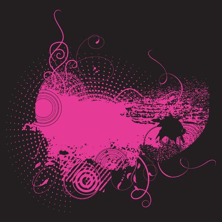 Grunge background in pink colour. Vector illustration Illustration