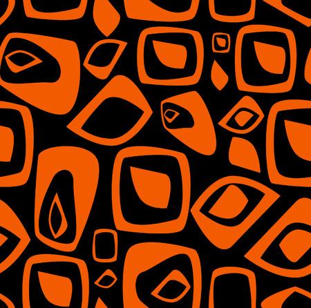 Stylish orange and black background. Vector illustration Vector