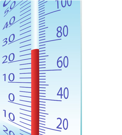 Thermometer illustration on a white background Vector