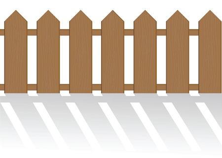 The fence isolated on a white background.  illustration Stock Vector - 6566115