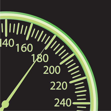miles: illustration of a speedometer Illustration