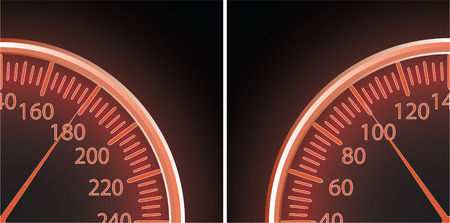miles: Vector illustration of a speedometer