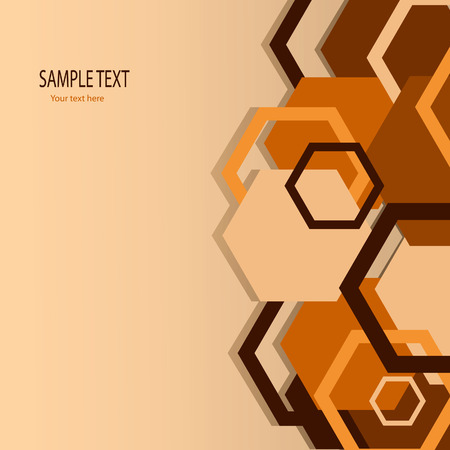 hexagon background: Stylish orange banner. Vector illustration Illustration