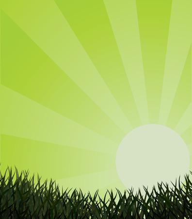 Ecological background. illustration Stock Vector - 6829189