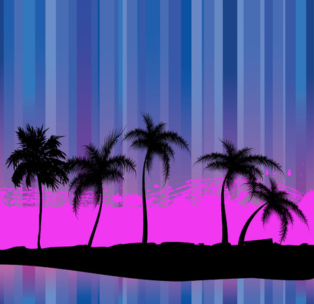 palmtree: Palm trees - an abstract background.  illustration Illustration