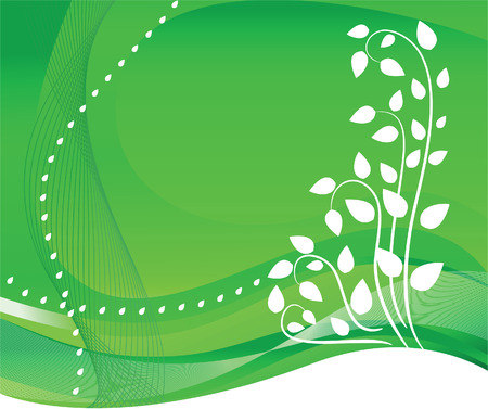 Abstract background with a green tree Stock Vector - 6854946