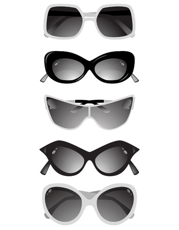 Collection of solar glasses. Stock Vector - 6956158