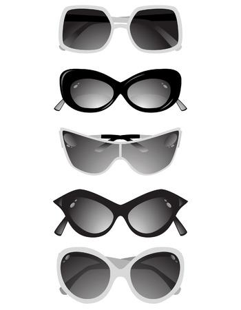 Collezione di occhiali solari.