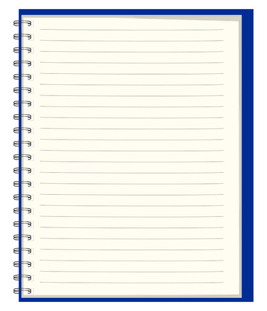 note pad: Pure notebook for records Illustration