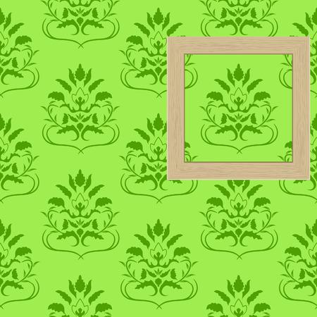 Framework for photos on wallpaper Stock Vector - 6956168