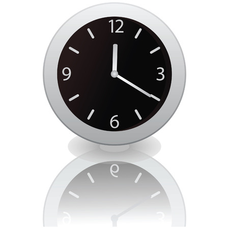 Clock isolated on a white background. illustration Stock Vector - 7054268