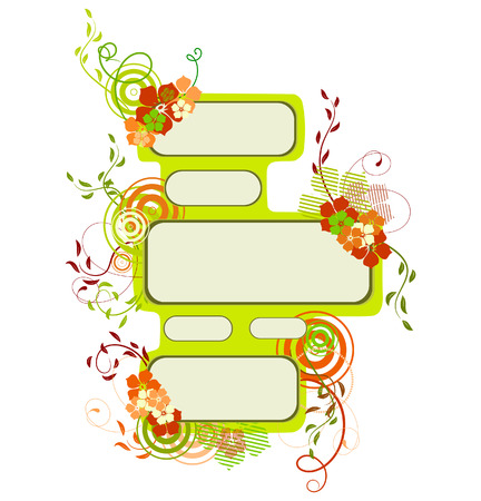 Collection of spring banners. Vector
