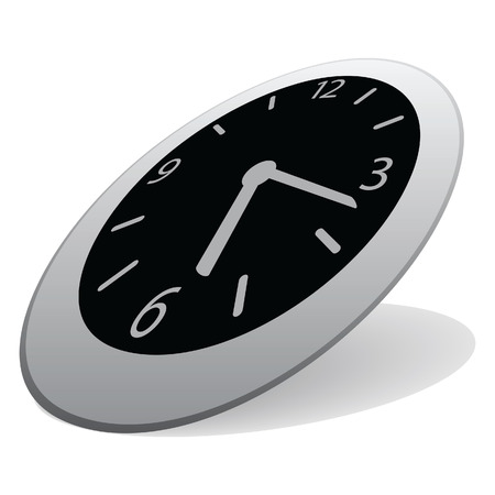 Clock isolated on a white background. Vector illustration Stock Vector - 7151778