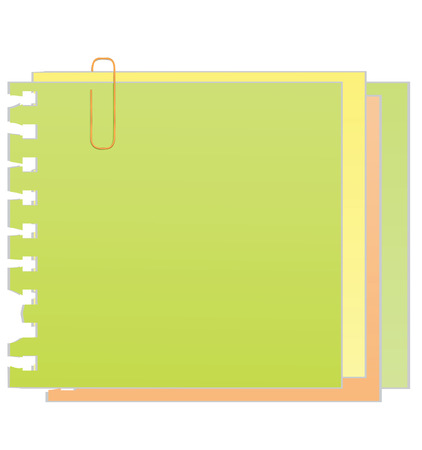 sticky paper: sticky note with paper clip