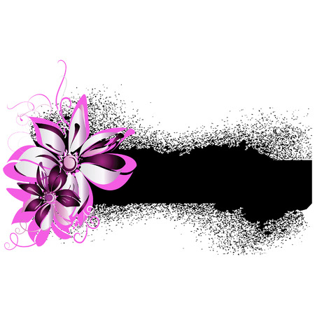 Grunge a banner with flower elements Stock Vector - 7165325