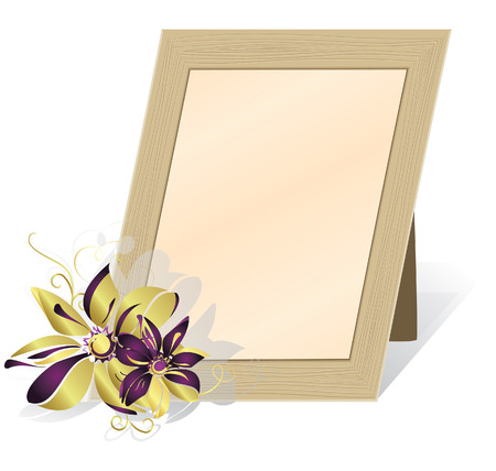 Framework for the photos, isolated on a white background. illustration Vector