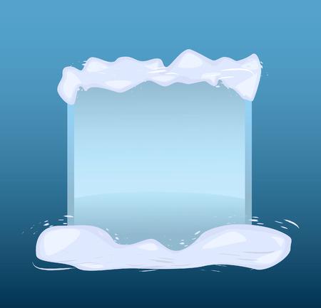 Winter blue banner. illustration Vector