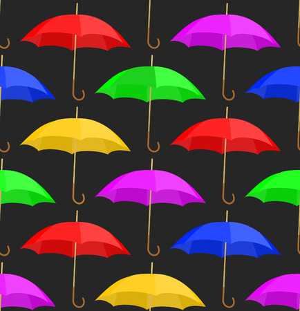 Seamless a background with umbrellas of different colour Stock Vector - 7396562