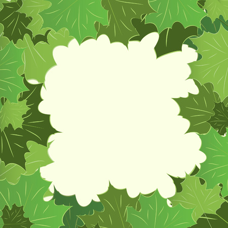 Framework from maple leaves. illustration Stock Vector - 7441398