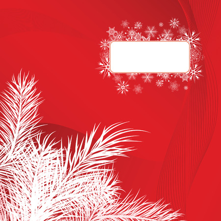 Christmas card with pine branches