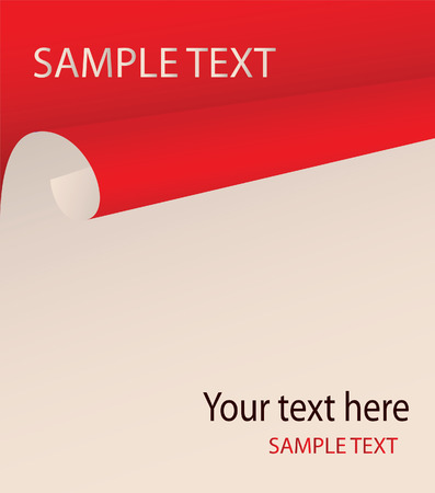 The bent paper with a place for your text. Vector Vector