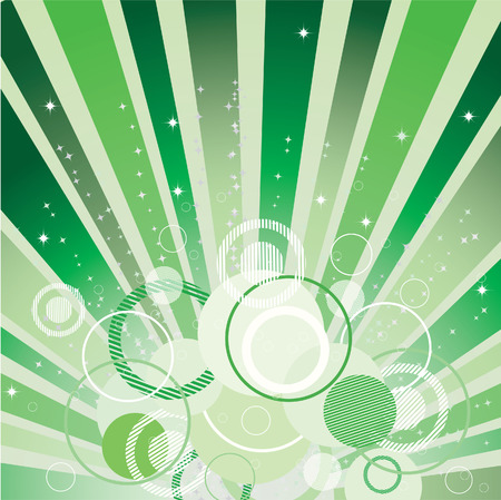 Abstract background with stars and circles.  Vector